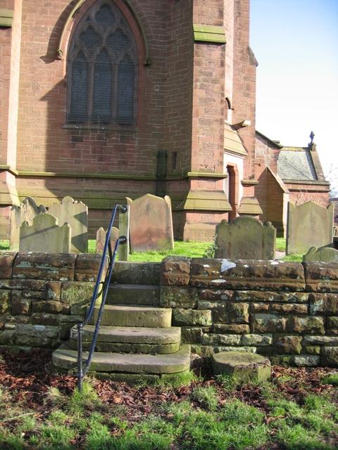 Churchyard Steps, Aldford.