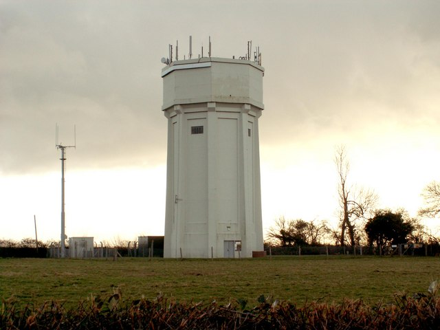Water Tower as seen from the B.1119