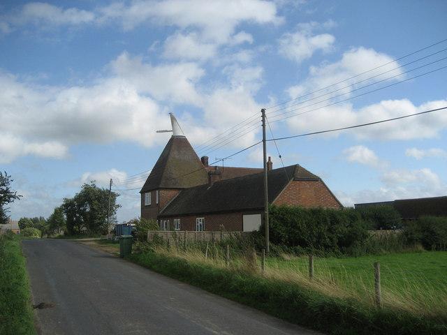 Oast House at River Farm, Redwall Lane, Hunton, Kent