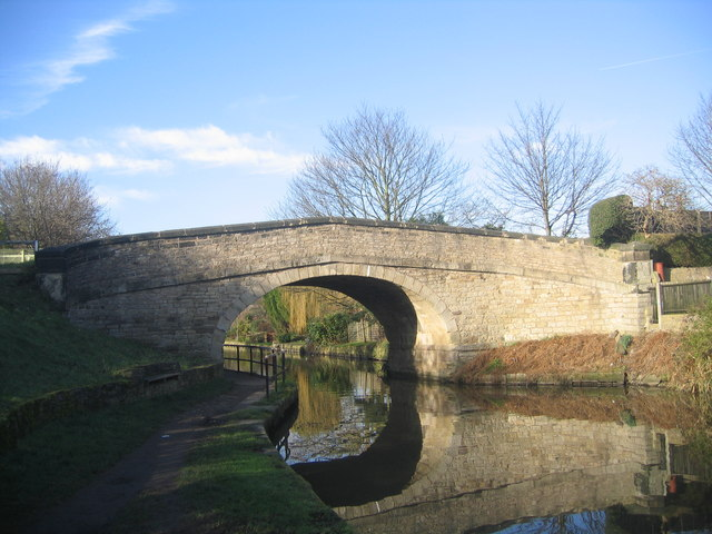 Bridge carrying the A5209 over the Leeds and Liverpool Canal