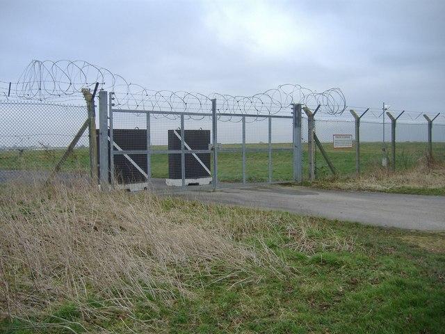 Perimeter gate, RAF Fairford