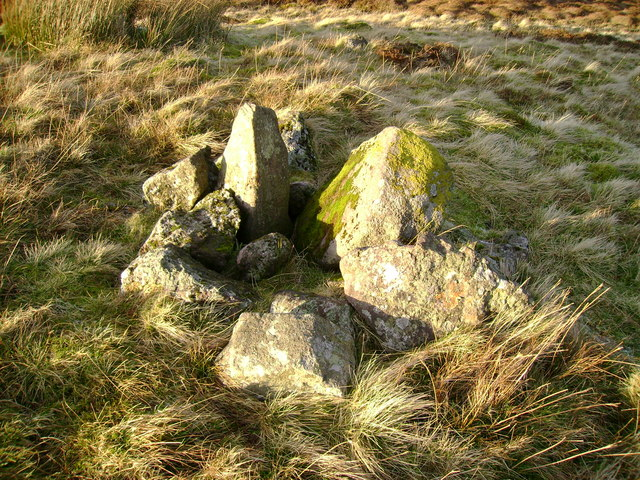 Cairn close to summit of Little Creuch Hill