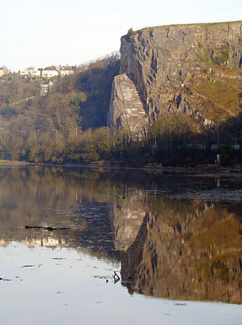 Sea Walls reflected in the River Avon