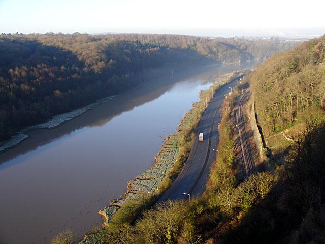 River Avon, Portway and Railway Line