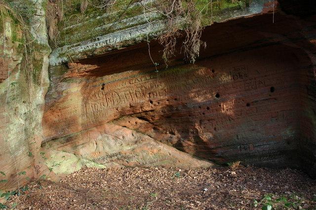 Rock outcrop, Kinver Edge