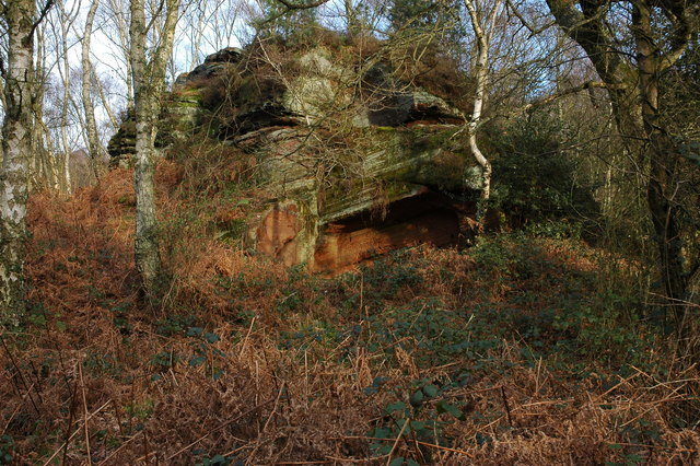 Rock outcrop, Kinver Edge