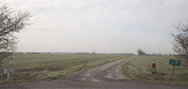 Road to Pastures Farm, Caxton, Cambridgeshire