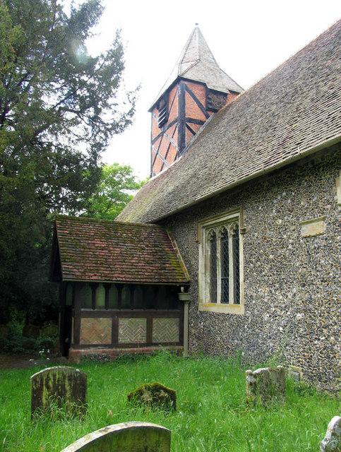 All Saints, Swallowfield, Berks - Porch