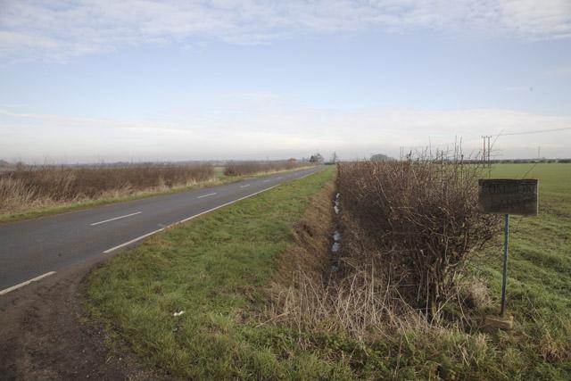 Caxton Road at Common Farm, Great Gransden, Cambridgeshire