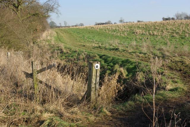 Bridleway north of Long Buckby
