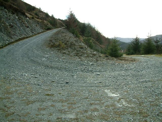 Track junction/bend below Bealach na h-Imrich