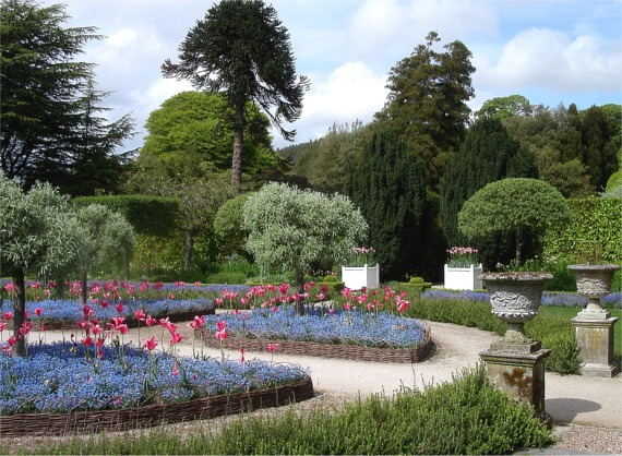 Formal spring garden, Holker Hall