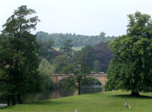 Bridge to Chatsworth House over River Derwent