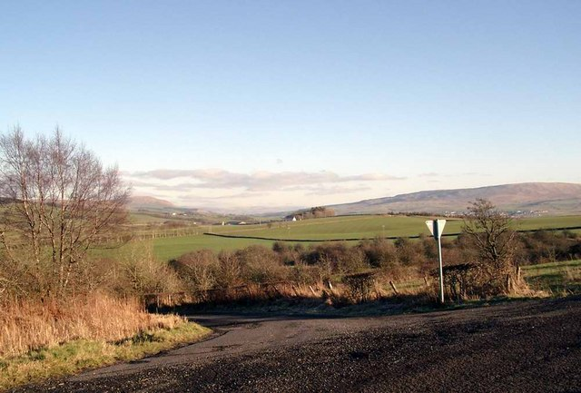 Minor road junction south of Cumnock