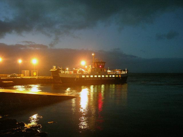 Last ferry of the day........Lochranza/Claonaig