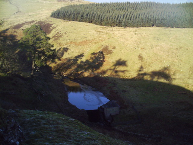 Dam in the Baddinsgill Burn