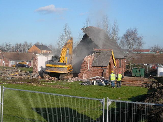 Danesmoor - St Barnabas Church Demolition
