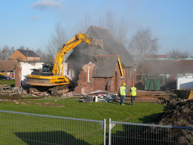 Danesmoor - St Barnabas Church Demolition