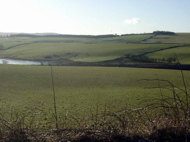 Creoch Loch and the Kilmarnock Dumfries railway line