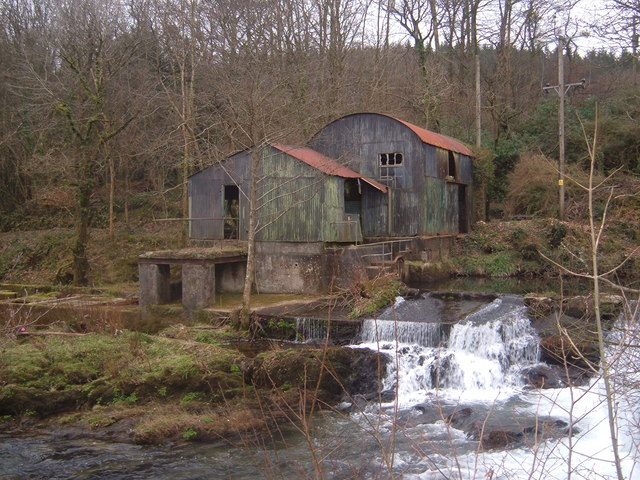 Old hydroelectric scheme  on the Barle below Dulverton