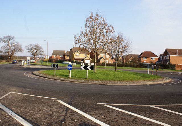 Roundabout on Stenson Road