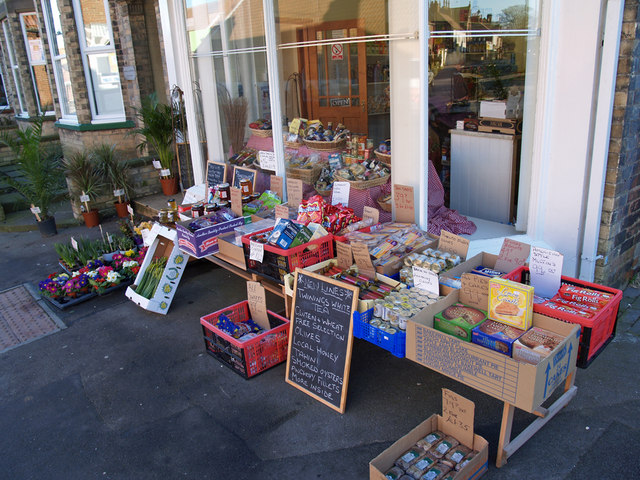 Kerbside Shop Display on Newbegin, Hornsea