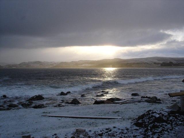 View across Gruinard Bay