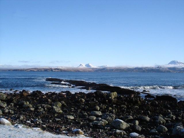 Beinn Ghobhlach across Gruinard Bay