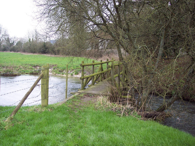 Footbridge over the River Ebble near Odstock Church