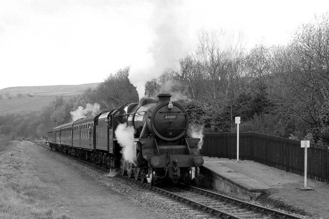 Preserved steam at Irwell Vale