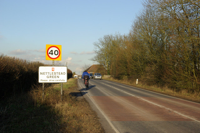 Entering Nettlestead Green