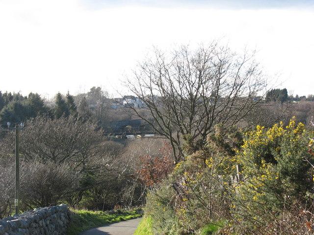 Descending Allt Cae Hywel Hill