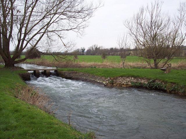 Recreational area by River Ebble near Odstock Church