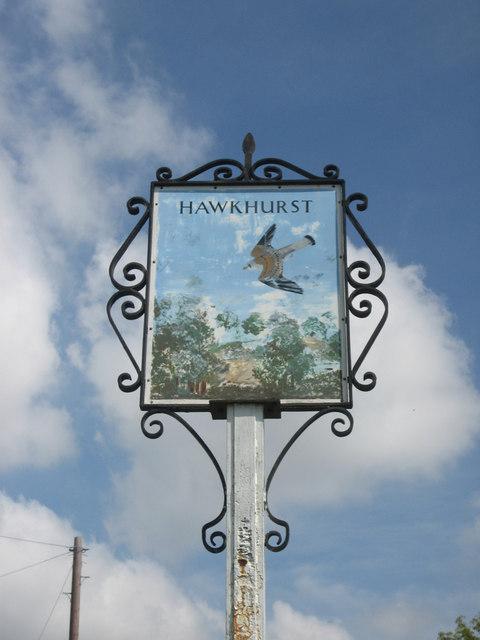 Hawkhurst sign, High Street