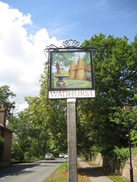 Wadhurst village sign, High Street