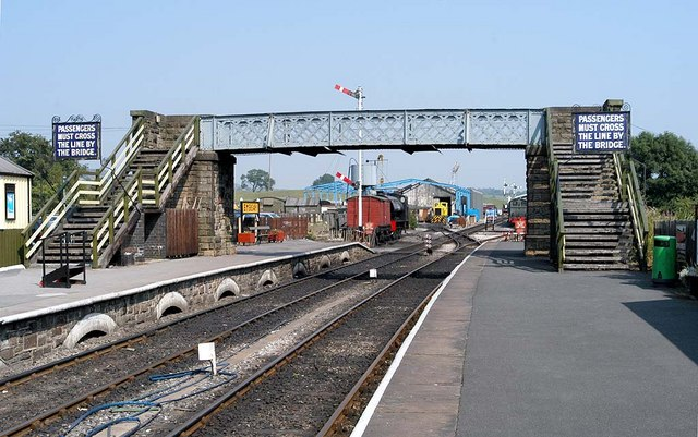 Footbridge at Embsay Station