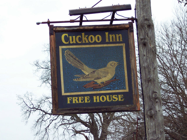 Sign for the Cuckoo Inn, Hamptworth