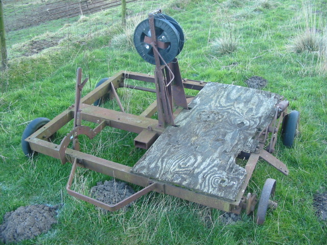 Abandoned farm implement north of Long Acres Farm