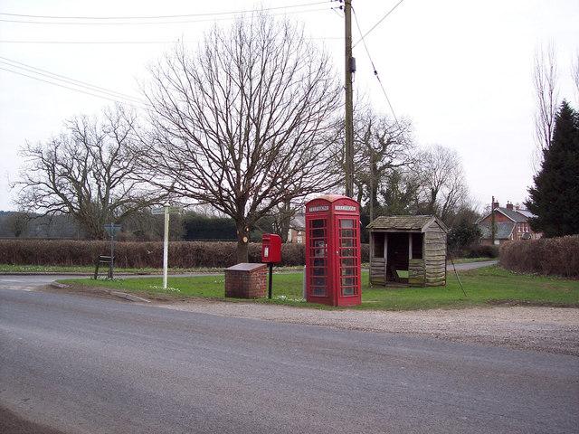 Junction near the Cuckoo Inn, Hamptworth