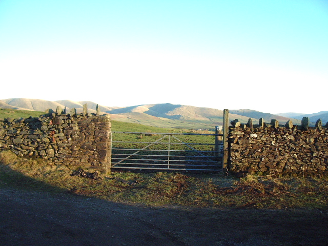 Gate with the Howgills as a back drop