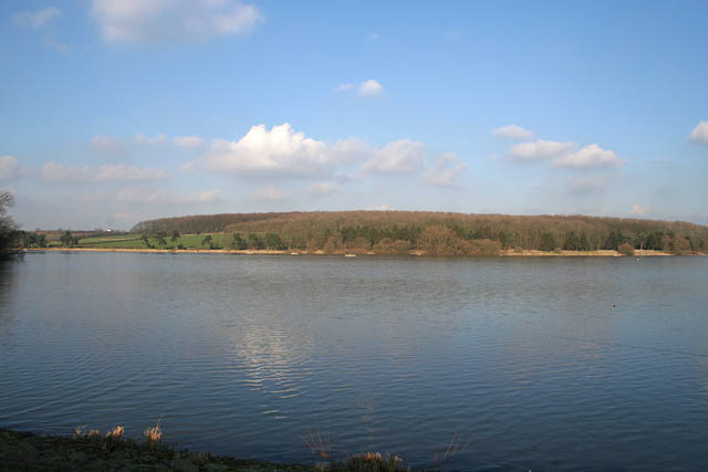 Looking towards the northwest arm of Thornton Reservoir