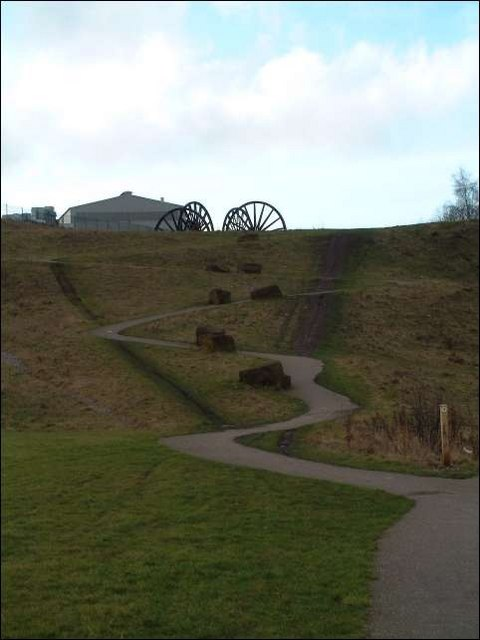 Colliery pithead Wheels at Berryhill Fields
