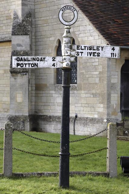 Sign Post, Waresley, Cambridgeshire