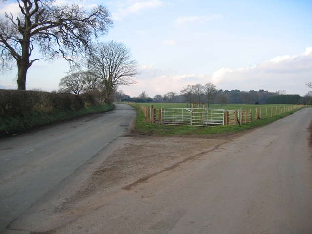 Road Junction near Burton