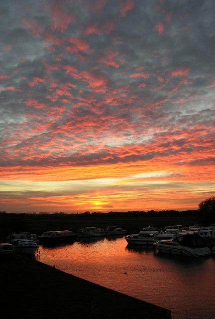 Sunset at Potter Heigham, Norfolk
