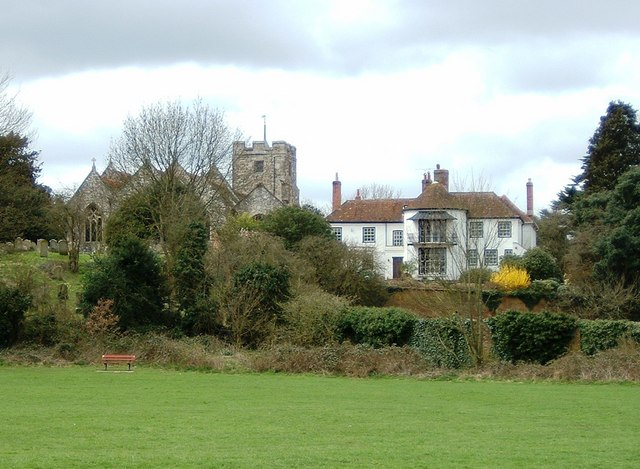 View towards Eling Church from the River Test Bank