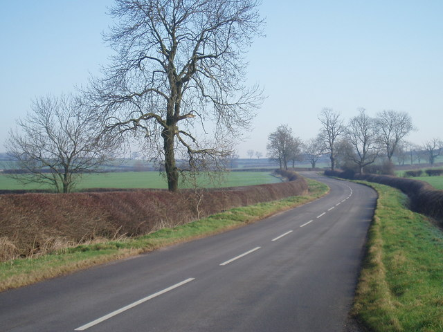 The road from Kibworth looking towards Tur Langton