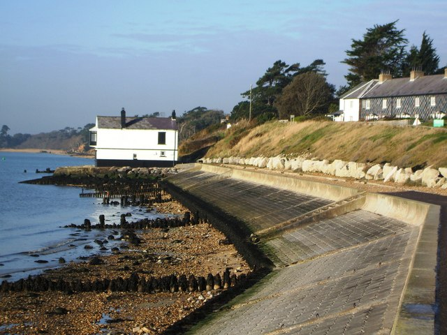 Lepe Cottages and White House