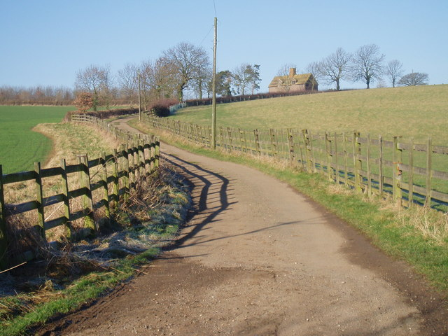 Private road to Fearn Farm