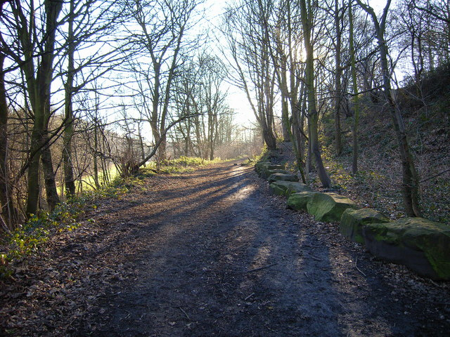 Disused railway track bed